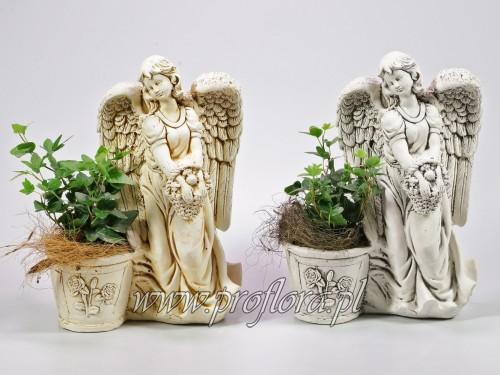dekoracje kwiatowe anioł z koszem