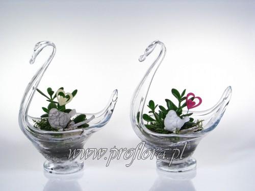 łabędź sucul Walentynkowy kompozycja kwiatowa Proflora